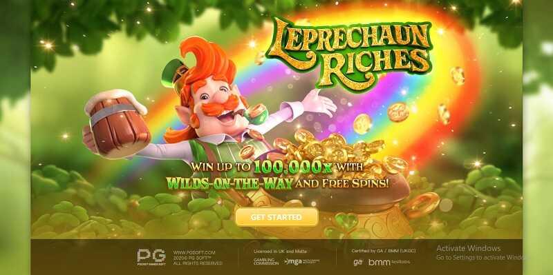 รีวิวเกมสล็อต Leprechaun Riches