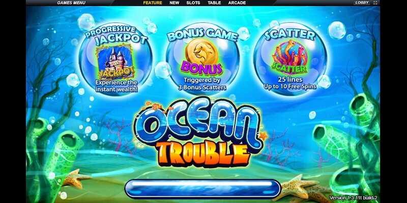 เกมสล็อต OCEAN TROUBLE ได้เงินจริง และได้เงินง่าย