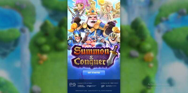รีวิวเกมสล็อต summon & conquer slot