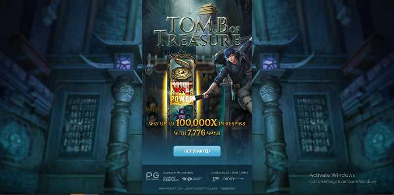 รีวิวเกมสล็อตออนไลน์ tomb of Treasure slot